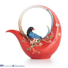 Franz Porcelain Joyful Magpie Teapot - Bird Tea Pot