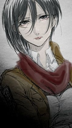Mikasa Ackerman is the main female protagonist of the anime/manga series Attack on Titan. Mikasa, Armin, New Image Wallpaper, Attack On Titan Fanart, Rivamika, Eremika, Manga Girl, Anime Girls, Female Anime