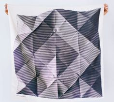 Folded paper + furoshiki