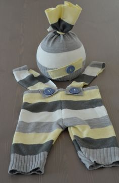 Upcycled newborn hat and pants  set .Photography prop.Ready to Ship