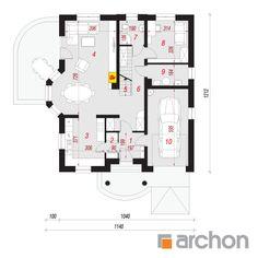 Dom w tymianku Floor Plans, Houses, Sketch Design