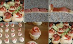 How to cook delicious ham rose bread step by step DIY tutorial instructions, How to, how to do, diy instructions, crafts, do it yourself, diy website, art project ideas