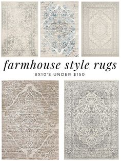 I love farmhouse style rugs, all tattered looking and gorgeous. What I do not love, is how expensive area rugs can be. I found 7 area rugs, all w Farmhouse Style Rugs, Farmhouse Area Rugs, Country Farmhouse Decor, Modern Farmhouse Kitchens, Farmhouse Design, Country Rugs, French Country Rug, Vintage Farmhouse Decor, Country Style
