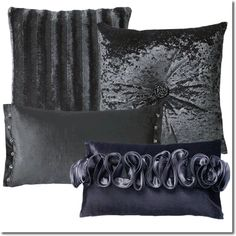 Kylie Minogue Theon Cushions - Layer the Theon bedding set with the coordinating cushions; a combination of velvets and dazzling embellishments.