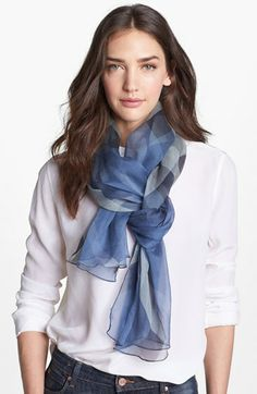 Burberry Check Print Silk Crepon Scarf available at #Nordstrom. LOVE LOVE LOVE the color