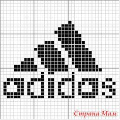 Bilderesultater for adidas ristipisto kuvio Knitting Charts, Knitting Socks, Baby Knitting, Knitting Patterns, Crochet Patterns, Bobble Stitch Crochet, Crochet Chart, Beaded Cross Stitch, Cross Stitch Patterns
