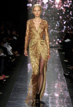 "Naeem Khan Fall 2012: smoke 'em if you got 'em. I want to see Helen Mirren & the ""girls"" in this gown."