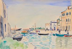 La Goulette, le canal et le quartier sicilien by Albert Marquet