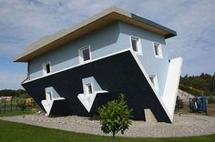 everything inside is upside-down! - Unique Architecture House called Upside Down House by Polish Architect (who'd had a bit much to drink, I'd say)