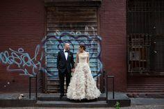 City-Chic Jewish Wedding, NYC Graffiti - mazelmoments.com