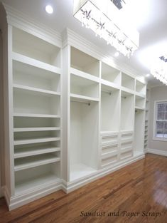DIY Master Bedroom closet, I wish we had the space to build this.