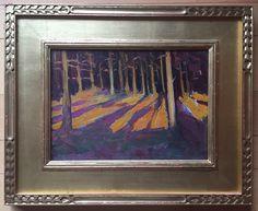 "Gertrude H. Fiske, ""Orange and Purple Forest""."