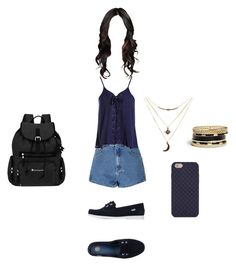 """Clothes of course wednesday 03/08"" by stilys on Polyvore featuring moda, Glamorous, Sans Souci, Melissa, Sherpani, Tory Burch, Charlotte Russe e GUESS"