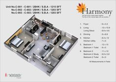 This is a 3D Model of Inside View of 2bhk of 1203-1215SFT.
