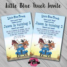Little Blue Truck Invitation  Digital by DigitalDaliah on Etsy