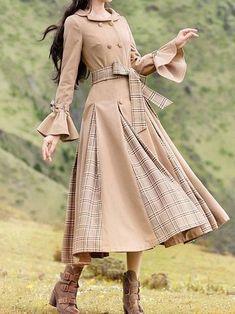 Vintage Dress – Page 6 – Wotoba Pretty Outfits, Pretty Dresses, Cute Outfits, Look Vintage, Vintage Skirt, Long Sleeve Vintage Dresses, Sleeve Dresses, Muslim Fashion, Korean Fashion