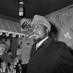 Thelonious Monk au bar de l'Olympia Paris 1963  Photo Breemat, Guy