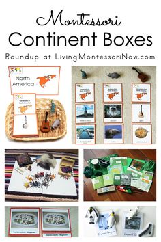 Ideas and resources for preparing Montessori continent boxes after children work with the Montessori continent map - Living Montessori Now #Montessori #geography #homeschool #preschool