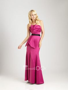 rose catcher neck fit and flare evening dress satin formal gown for bridesmaid
