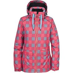 Trespass WomensLadies Stretto Winter Snow Jacket M Coral Blush Check ** Read more at the image link.