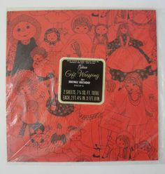 New Old Stock Gibson Girl Doll Wrapping Paper  by WhileSJsSleeping, $5.00