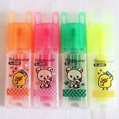 These cute mini kawaii Rilakkuma highlighters are perfect for school or the home office. Doing homework has never been so fun!  - Set of 4  $3.00AUD