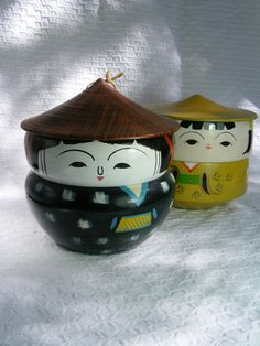 These vintage bento boxes were on etsy and have been sold, but they are so cute!