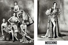 Moschino FW 2914: For Jeremy Scotts first collection as creative director for Moschino, he chose photographer Steven Meisel to shoot the amazing fast food inspired iconic collection.