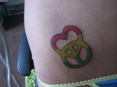 I Love You Sign Language Tattoo   ... Peace Sign Tattoos here: slodive.com/inspiration/peace-sign-tattoos