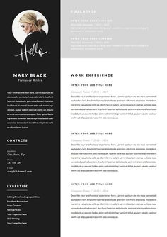 Resume Template and Cover Letter References Template for image 3 Cover Letter Template, Cv Template, Letter Templates, Resume Templates, Blog Planner, Cv Curriculum Vitae, Cv Inspiration, Free Resume Examples, Design Social