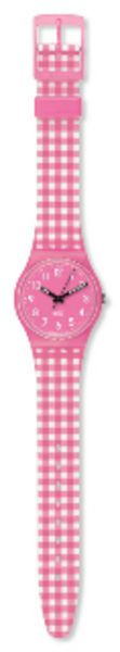 Pink Gingham Swatch Watch