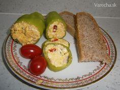 Čerstvá paprika plnená šunkou, vajíčkom a syrom (fotorecept)