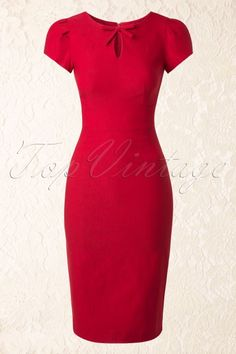 Red Bow Pencil Dress 100 20 14824 03272015 1 Source by sirkkamarjatta dresses classy Cute Dresses, Vintage Dresses, Dresses For Work, Dress Outfits, Fashion Dresses, Teen Girl Fashion, 1940s Fashion, Red Fashion, Classy Dress