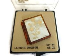 Vintage Mother of Pearl Perfume Compact by PopcornVintageByTann
