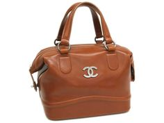 CHANEL Hand bag Calf Skin Brown(BF045012)