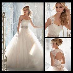 Detachable Straps Wedding Dress