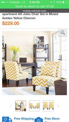 Chairs. Yellow ChevronBedroom ...