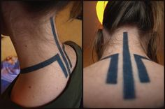 Awesome Neck Tattoo http://tattoos-ideas.net/awesome-neck-tattoo/ Black Ink, Neck Tattoos