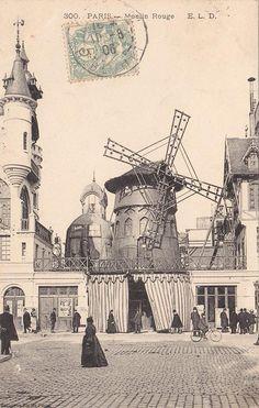 Le Moulin Rouge in 1905 - Paris - France Vintage Pictures, Old Pictures, Old Photos, Paris 1900, Old Paris, Paris Paris, Moulin Rouge Paris, Le Moulin, Vintage Paris