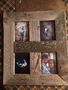 Barn-board picture frame!
