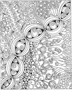 Large Format, complex coloring page by Cynthia Emerlye. 24 inches ...