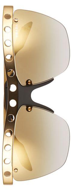 Prada 62mm Rimless Sunglasses in Bronze