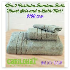 This wonderfully soft Bamboo Towel Giveaway is sponsored by Cariloha and hosted by Mom Does Reviews. If you haven't ever tried any Cariloha products and enjoyed the soft, luxury feel of their bamboo, you are missing out! Why Choose Cariloha Bamboo?...