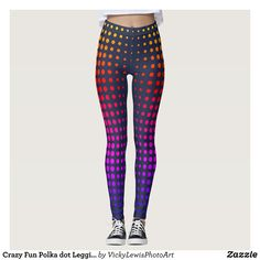 Crazy Fun Polka dot Leggings : Beautiful #Yoga Pants - #Exercise Leggings and #Running Tights - Health and Training Inspiration - Clothing for #Fitspiration and #Fitspo - #Fitness and #Gym #Inspo - #Motivational #Workout Clothes - Style AND #comfort can both be possible in one perfect pair of custom #leggings. #Crazy Fun Polka dot Leggings was crafted made with care each pair of leggings is printed before being sewn allowing for #fun and #creative designs on every square inch - Medium weight…