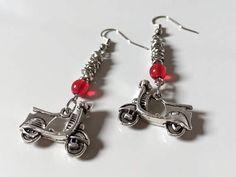 Orecchini Vespa 50, orecchini amanti Vespa, orecchini vespisti, orecchini mods, gioielli vespa, orecchini nodini, nodini alluminio