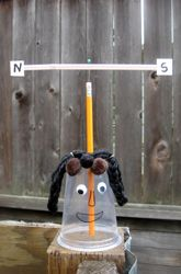 Teach kids about the weather with this silly weather vane project that uses household materials.