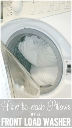 How to Wash Pillows in a Front Load Washing Machine - get a jump on spring cleaning your bedroom with this simple tutorial