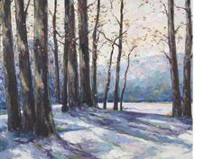 """""""A Winter Landscape,"""" John Fabian Carlson, 1924, oil on canvas, 30 x 36"""", private collection.Inscribed 'Painted by John F. Carlson as a class demonstration Woodstock NY January 12th Saturday 1924' on the reverse."""
