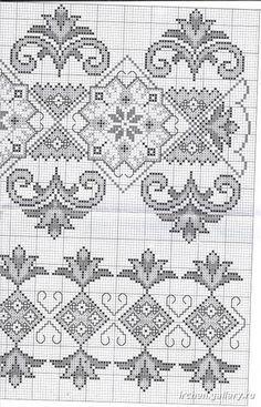 Gallery.ru / Фото #23 - HAFT LUDOWY - aaadelayda Russian Embroidery, Diy Embroidery, Cross Stitch Embroidery, Embroidery Patterns, Cross Stitch Borders, Counted Cross Stitch Patterns, Cross Stitch Designs, Cross Stitching, Filet Crochet