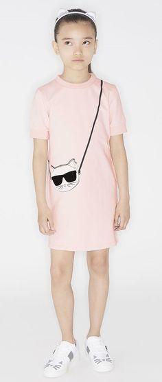 KARL LAGERFELD KIDS SS 2019 Karl Lagerfeld Kids, Kids Girls, Boys, Sweatshirt Dress, Kids Fashion, Children, Sweatshirts, Cotton, Babies